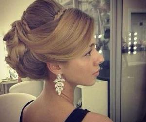 blonde, earrings, and hair image