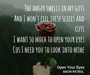 music, open your eyes, and snow patrol image