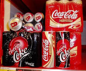 coca cola, coke, and cherry image