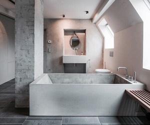 interior, bathroom, and house image