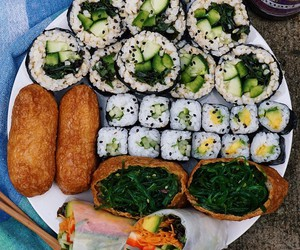 food, sushi, and lunch image