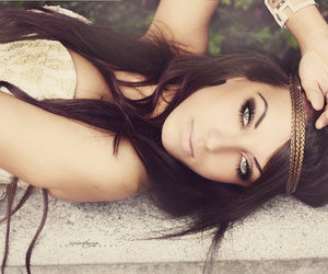 beauty, brunette, and girl image