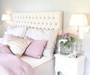 bed, girly, and home image