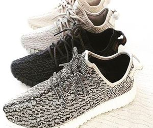shoes, yeezy, and yeezys image