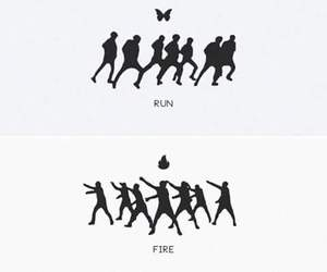 bts, kpop, and fire image