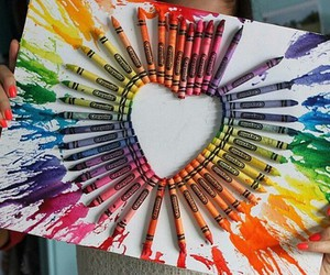 art, heart, and colors image