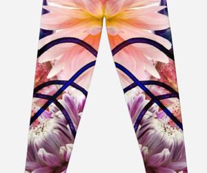 fashion, floral leggings, and leggings image