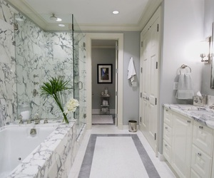 bathroom, dream home, and marble image