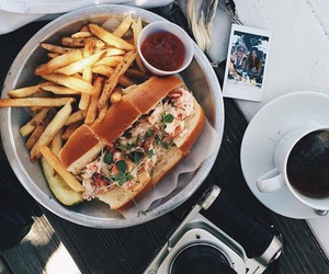 food, coffee, and fries image