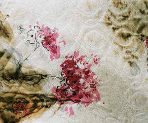 floral, found, and mattress image