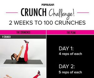 fitness, crunch, and workout image