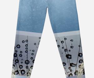 fashion, floral leggings, and pastel leggings image