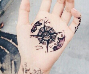 tattoo, grunge, and hand image