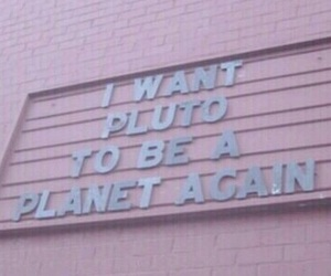 quote, pink, and pluto image
