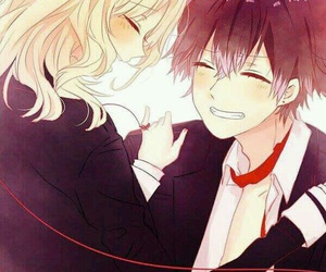 holding, diabolik lovers, and anime couples image