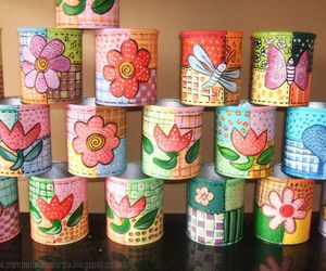 recycled, recycling, and recycled cans image