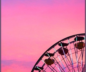 amusement park, bright colors, and carnival image