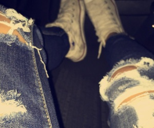 converse, tumblr, and jeans image