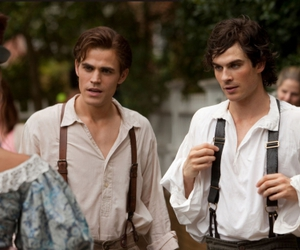 damon salvatore, the vampire diaries, and stefan salvatore image