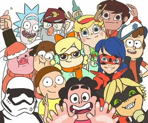 gravity falls, steven universe, and miraculous ladybug image
