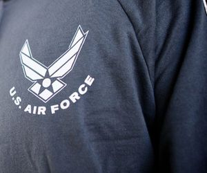 air force, blue, and military image