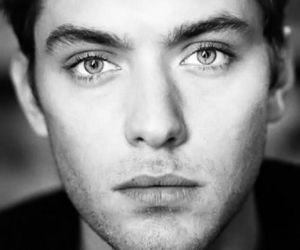 jude law, boy, and black and white image