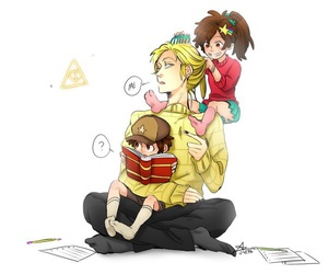 gravity falls, bill cipher, and dipper pines image