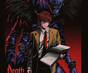 death note, ryuk, and raito yagami image