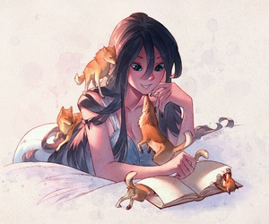 anime, art, and wolves image