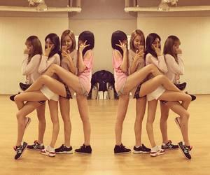girls, minhee, and junyool image