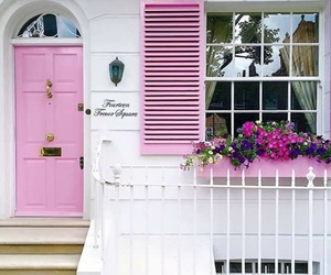 door, girl, and pink image