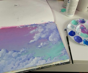 art, sky, and clouds image