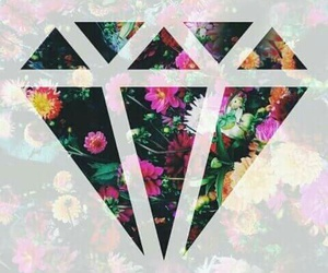 flowers, diamond, and wallpaper image