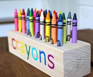 crayons and diy image