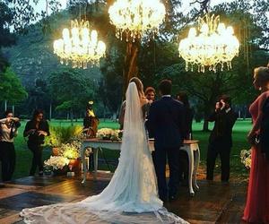 alice in wonderland, bride, and ceremony image