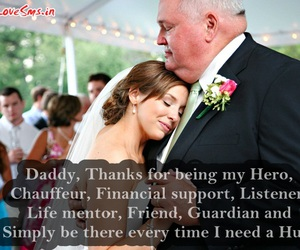 thank you dad, dad daughter sayings, and daughter quotes pic image