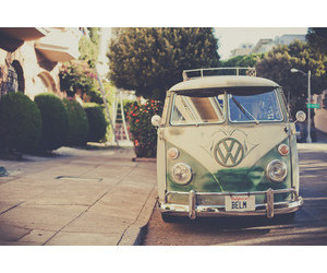 peace and love and van image