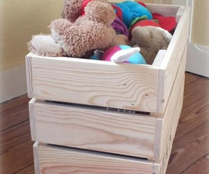 pallet chest ideas, pallet chest plans, and pallet toy box image