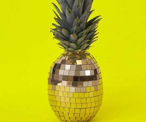 pineapple, disco, and yellow image