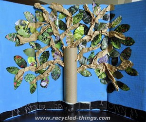 tree art ideas, upcycled trees, and recycled trees image