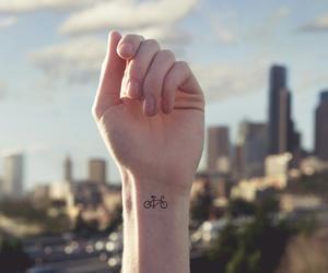 tattoo, bike, and city image