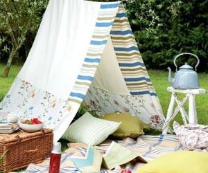 backyard, grass, and picnic image