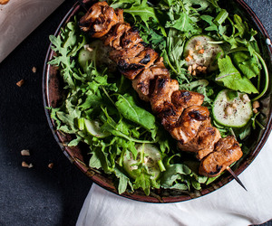 Chicken, peanut, and kale image