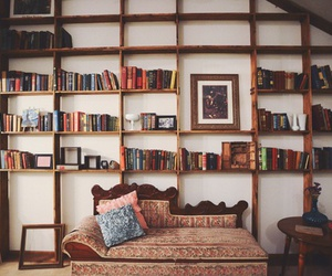 book, room, and vintage image