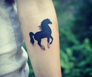 animals, horse, and horse tatoo image