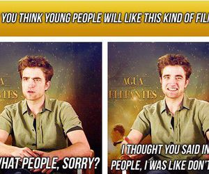 funny, robert pattison, and twilight image