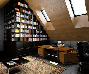 architecture, books, and library image