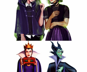 cute girl, evil queen, and modern style image