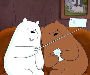 bear, cartoon network, and ice bear image