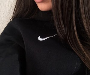 nike, girl, and black image